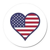 Patriotic Round Car Magnets