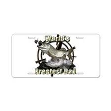 Worlds greatest dad Aluminum License Plate
