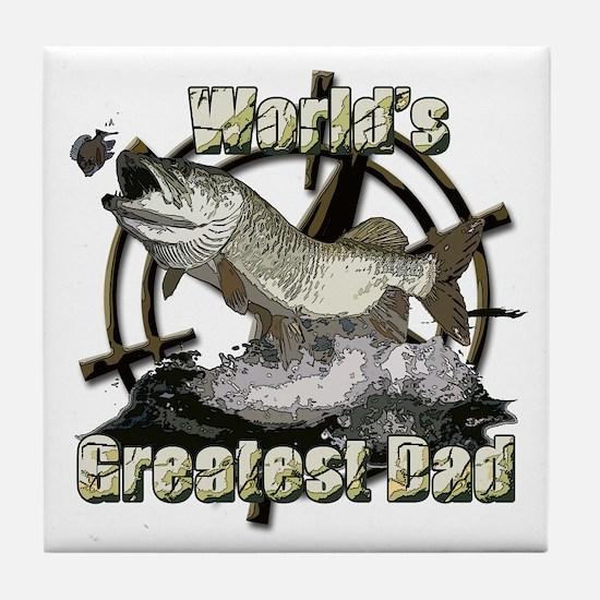 Worlds greatest dad Tile Coaster