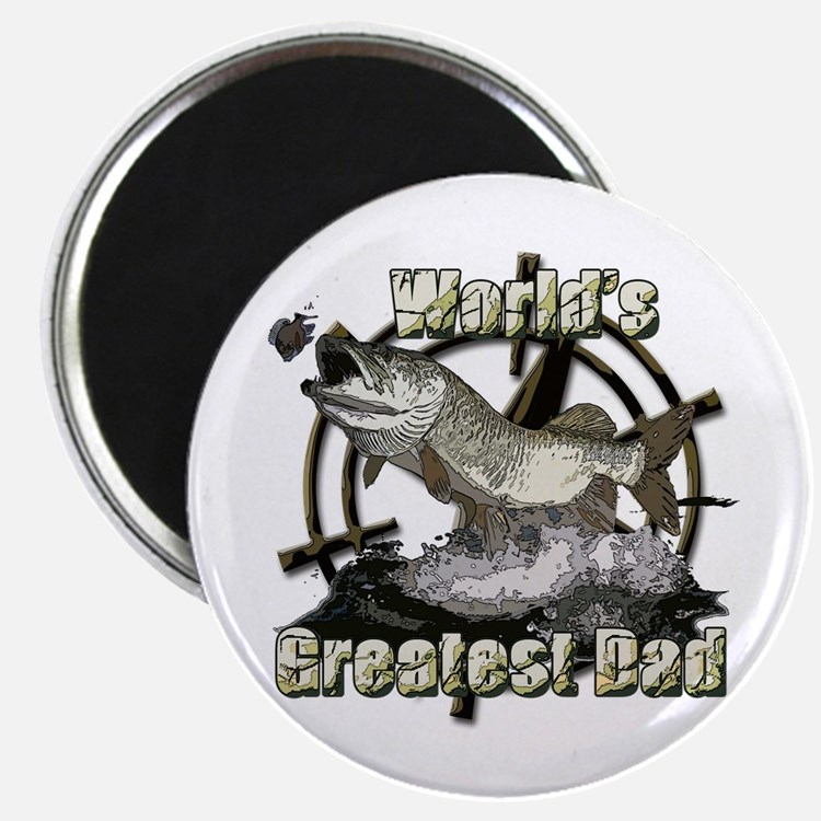"""Worlds greatest dad 2.25"""" Magnet (10 pack)"""