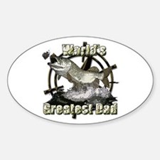 Worlds greatest dad Sticker (Oval)