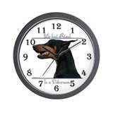 Doberman Wall Clocks