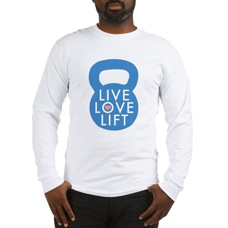 Blue Live Love Lift Long Sleeve T-Shirt