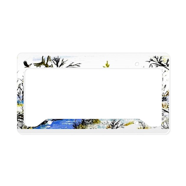 Native American Warrior License Plate Holder By Bearprivate