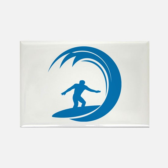 Surfing Rectangle Magnet