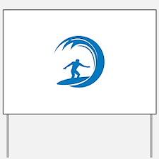Surfing Yard Sign