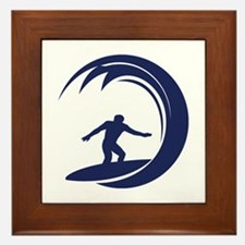 Surfing Framed Tile