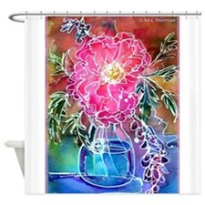 Peony! Floral art! Shower Curtain