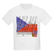 Flag of Ceska Republika Kids T-Shirt