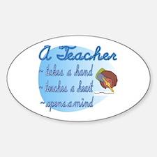 Teacher takes a hand Sticker (Oval)