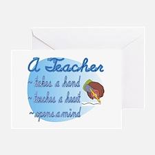 Teacher takes a hand Greeting Card