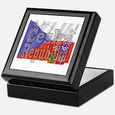 Flag of Ceska Republika Keepsake Box
