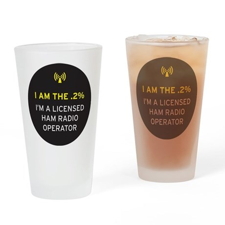 I am the .2% Drinking Glass