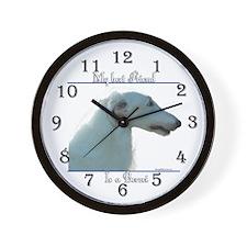 Borzoi 2 Wall Clock