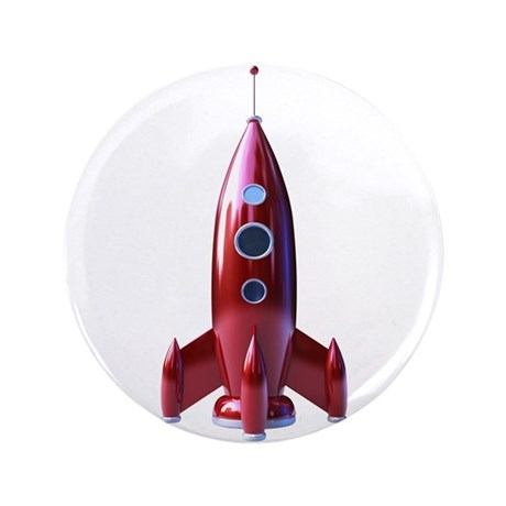 """rocketship 3.5"""" Button"""