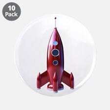 """rocketship 3.5"""" Button (10 pack)"""