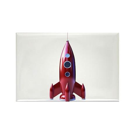 rocketship Rectangle Magnet