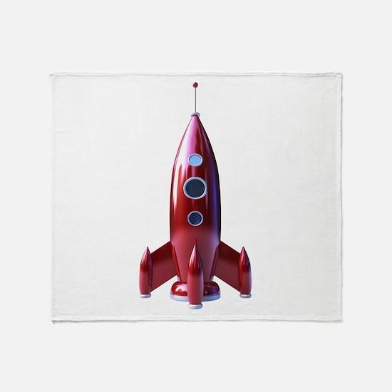 rocketship Throw Blanket