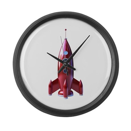 rocketship Large Wall Clock