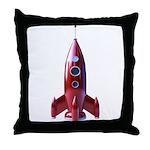 rocketship Throw Pillow