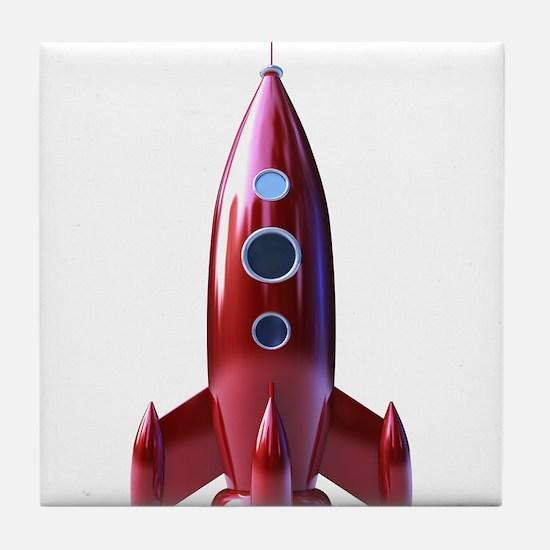 rocketship Tile Coaster