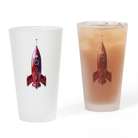rocketship Drinking Glass