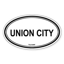 Union City (California) Oval Decal
