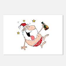 Drunk Santa Postcards (Package of 8)