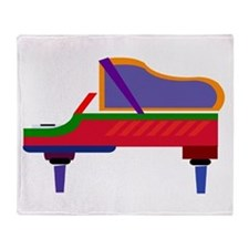 Funky Piano Throw Blanket