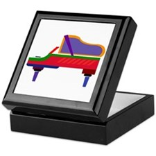Funky Piano Keepsake Box