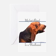 Bloodhound 3 Greeting Cards (Pk of 10)