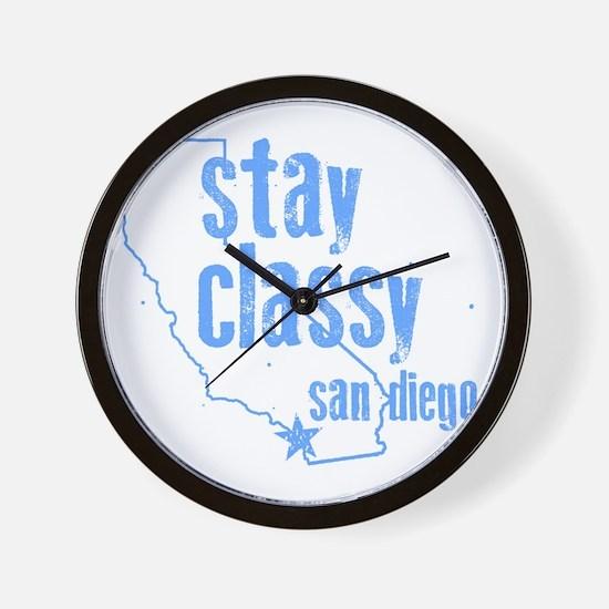 Stay Classy Wall Clock