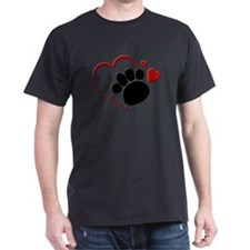 hearts_dog_paw T-Shirt