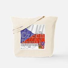 Silky Flag Czech Republic Tote Bag