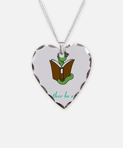 Rather be reading Necklace Heart Charm