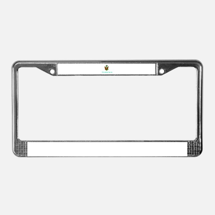 Rather be reading License Plate Frame