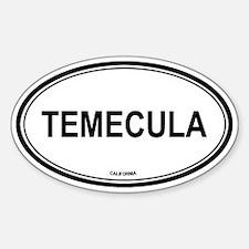 Temecula (California) Oval Decal