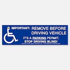 Anti-Parking Placard Bumper Bumper Bumper Sticker