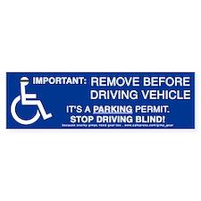 Anti-Parking Placard Bumper Bumper Sticker