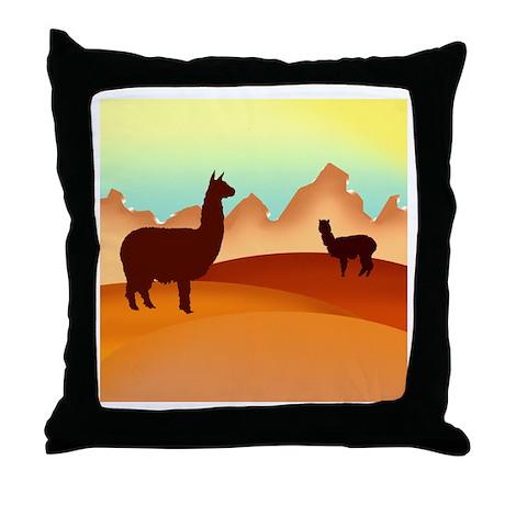 alpaca & llama shop Throw Pillow
