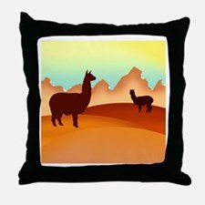 alpaca & llama shop Throw Pillow