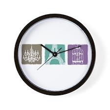 Birdcage Chandelier Paris Wall Clock