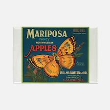 Mariposa Butterfly Fruit Crat Rectangle Magnet