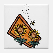 Bees5 Tile Coaster