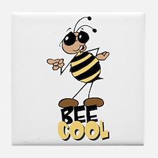 Bees8 Tile Coaster