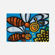 Bees10 Rectangle Magnet
