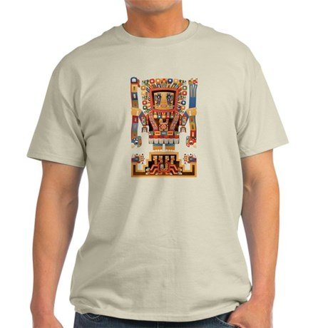 Viracocha Creator God of Tiwanaku Light T-Shirt