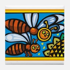 Bees10 Tile Coaster