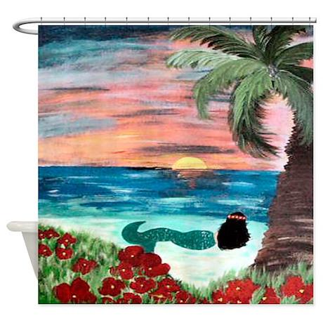 Aloha Mermaid Shower Curtain