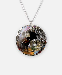 Culture of Spain Soccer Ball Necklace
